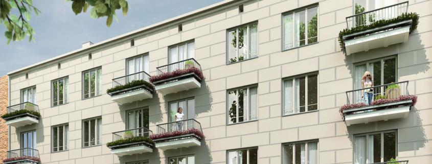 Kamienica na Pradze. Mieszkania. Folwarczna 7